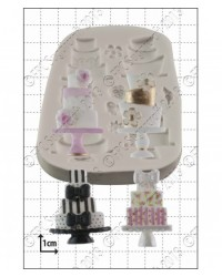 image: Tiered wedding cakes silicone mould