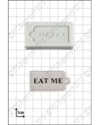 image: Eat me - tag - silicone mould