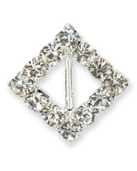 image: Small diamante diamond buckle pack of 10