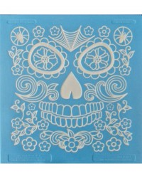 image: Sugarveil Catrina edible lace mat (skulls & day of dead)