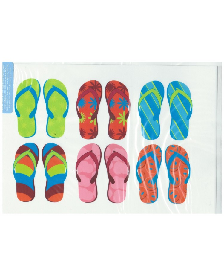 image: A4 6 pairs Jandal Jandals edible image