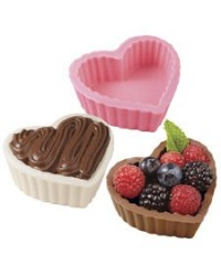 image: Heart shape dessert shell chocolate mould