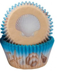 image: Seashells under the sea standard cupcake papers