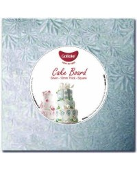 """image: Cake drum light board 12mm thick 15"""" silver square"""