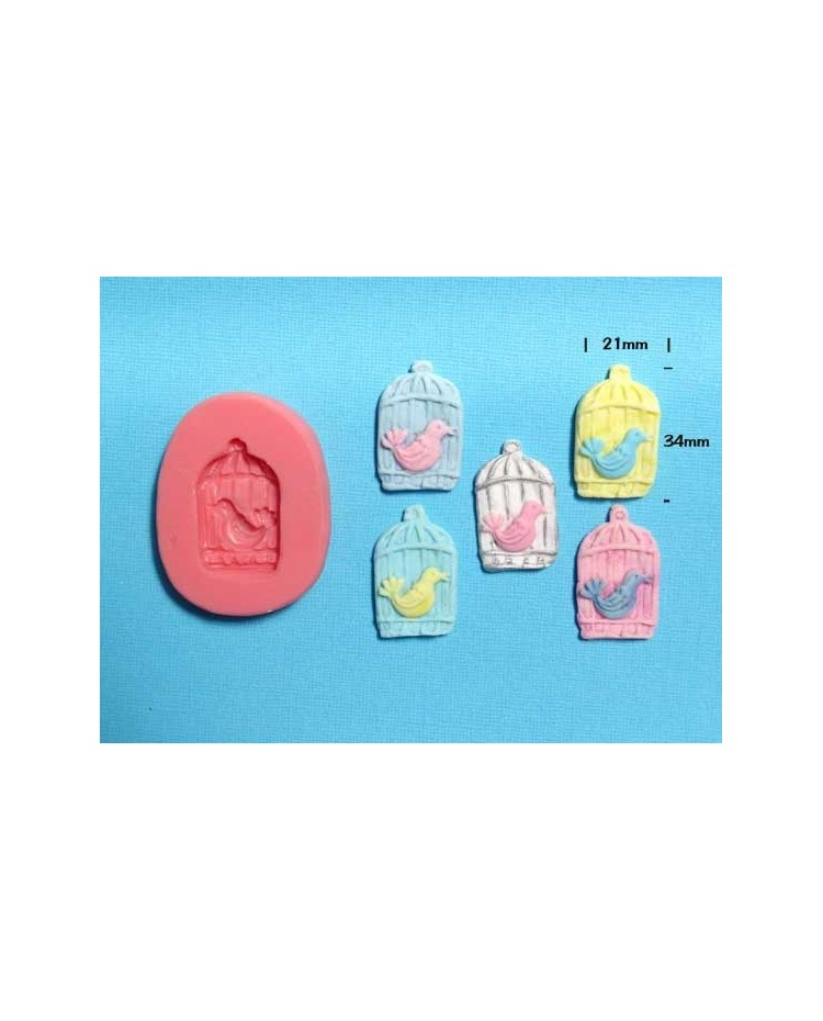 image: Bird cage silicone mould
