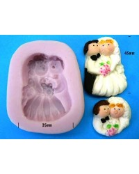image: Bride & groom silicone mould