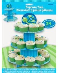 image: 1st birthday turtle cupcake stand