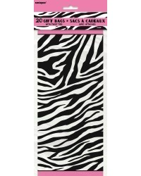 image: Zebra cello bags (20) hot pink trim