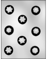 image: Snowflake round mints chocolate mould