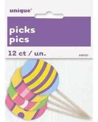 image: Easter egg cupcake picks pack of 8