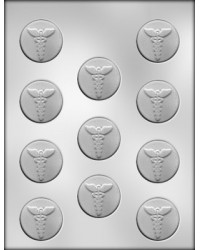 "image: Caduceus medical 1 1/2"" mint chocolate mould"