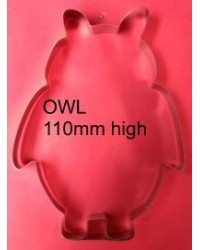 image: Owl 110mm fondant or cookie cutter