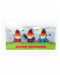 image: Gnome breadmen - gingerbread garden gnome cookie cutters