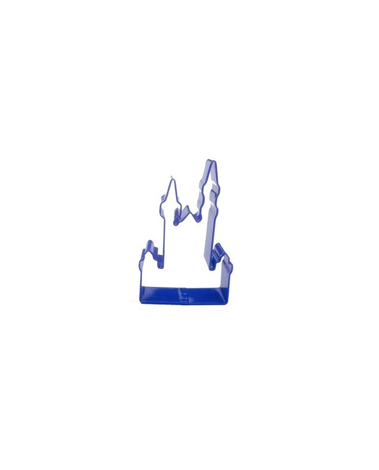 image: Castle Neuschwanstein blue metal cookie cutter