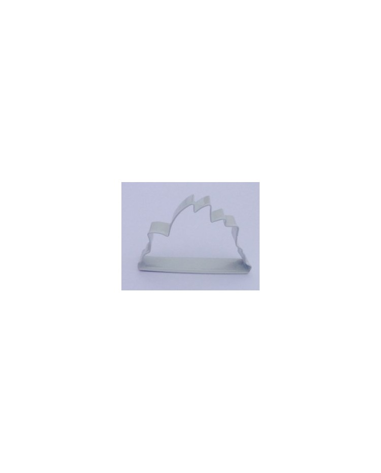 image: Sydney Opera House white metal cookie cutter