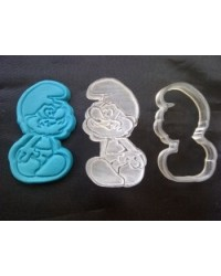 image: Papa Smurf cutter with embossing plunger stamp