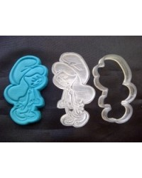 image: Smurfette cutter with embossing plunger stamp