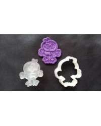 image: Giggle & Hootabelle the owl cutter with embossing plunger stamp