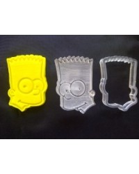 image: Bart Simpson cutter with embossing plunger stamp