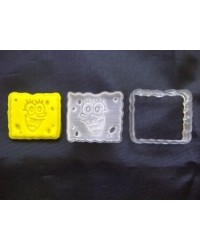 image: Spongebob Squarepants cutter with embossing plunger stamp