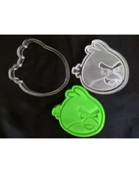image: Angry birds cutter 5 with embossing plunger stamp