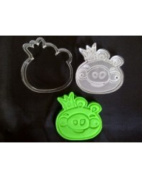 image: Angry birds cutter 3 with embossing plunger stamp