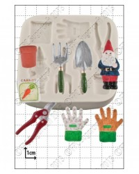 image: Gardening tools & gnome silicone mould