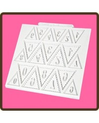 image: Bunting silicone mould numbers (Katy Sue)