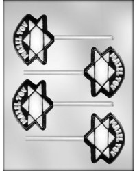 image: Jewish Mazel Tov lollipop chocolate mould
