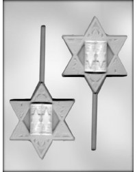 image: Jewish Star of David lollipop chocolate mould