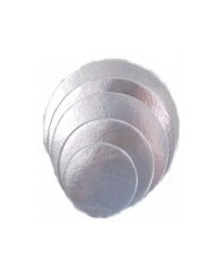 image: 3 inch round SILVER cake card (3 pk)