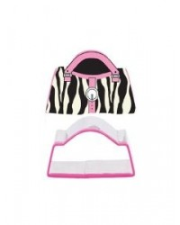 image: Handbag Zebra print cookie cutter and stamp set
