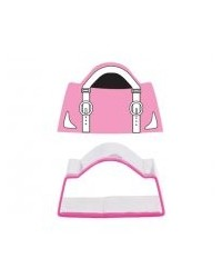 image: Handbag buckles cookie cutter and stamp set