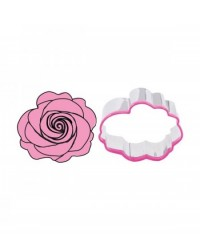 image: Rose cookie cutter and stamp set