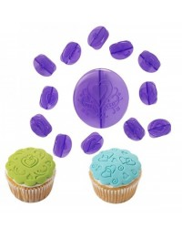 image: Wilton 14-Pc. Hearts Fondant Cupcake Decorating set (press set)