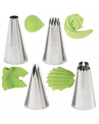 image: Wilton 4-Pc. Borders Tip or piping nozzle set