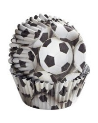 image: Colourcups foil (no grease cupcake papers) SOCCER BALLS