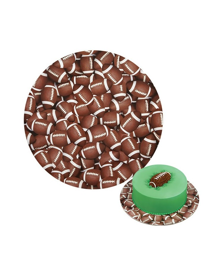 "image: Football rugby ball cake card board 12"" (3pack)"