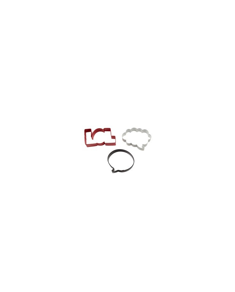 image: Wilton 3-Pc. Colored Metal Cookie Cutter Set