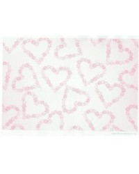 image: Wafer paper sheet Pink floral hearts