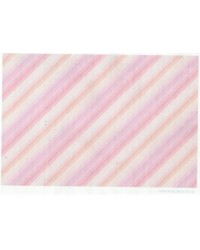 image: Wafer paper sheet Pink & peach diagonal stripe