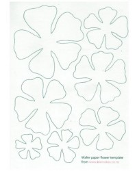 image: Wafer paper sheet Flower template #1