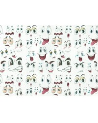 image: Wafer paper sheet Facial expressions eyes & mouth