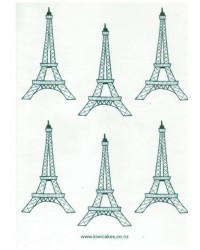 image: Wafer paper sheet Eiffel Tower Paris Parisian