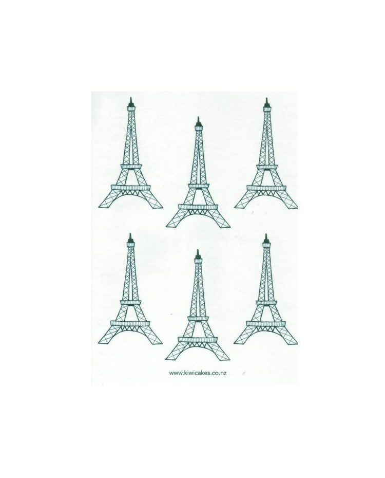 photo about Eiffel Tower Printable known as Wafer paper sheet Eiffel Tower Paris Parisian