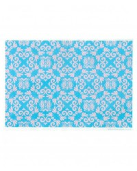 image: Wafer paper sheet Pink and blue damask