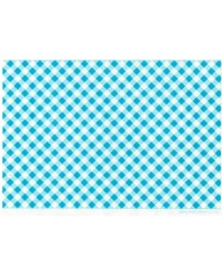 image: Wafer paper sheet Blue gingham