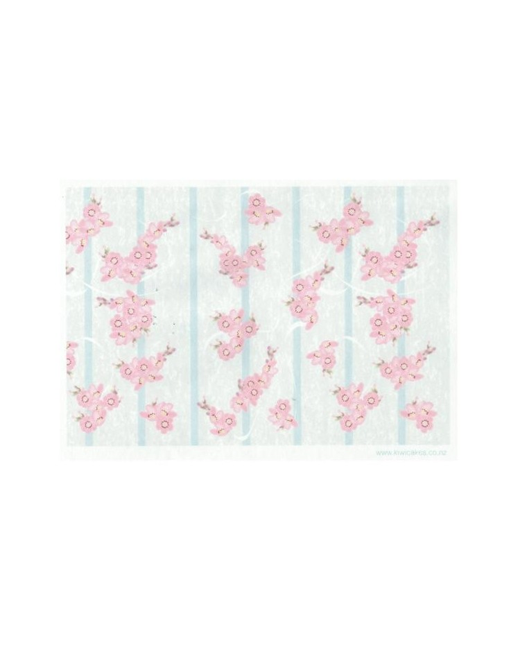 Wafer Paper Sheet Cherry Blossom Bunches