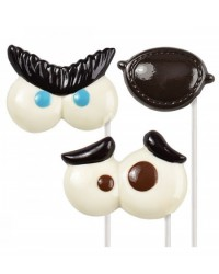 image: Expressions eyes lollipop chocolate mould