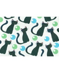 image: Wafer paper sheet Cats black